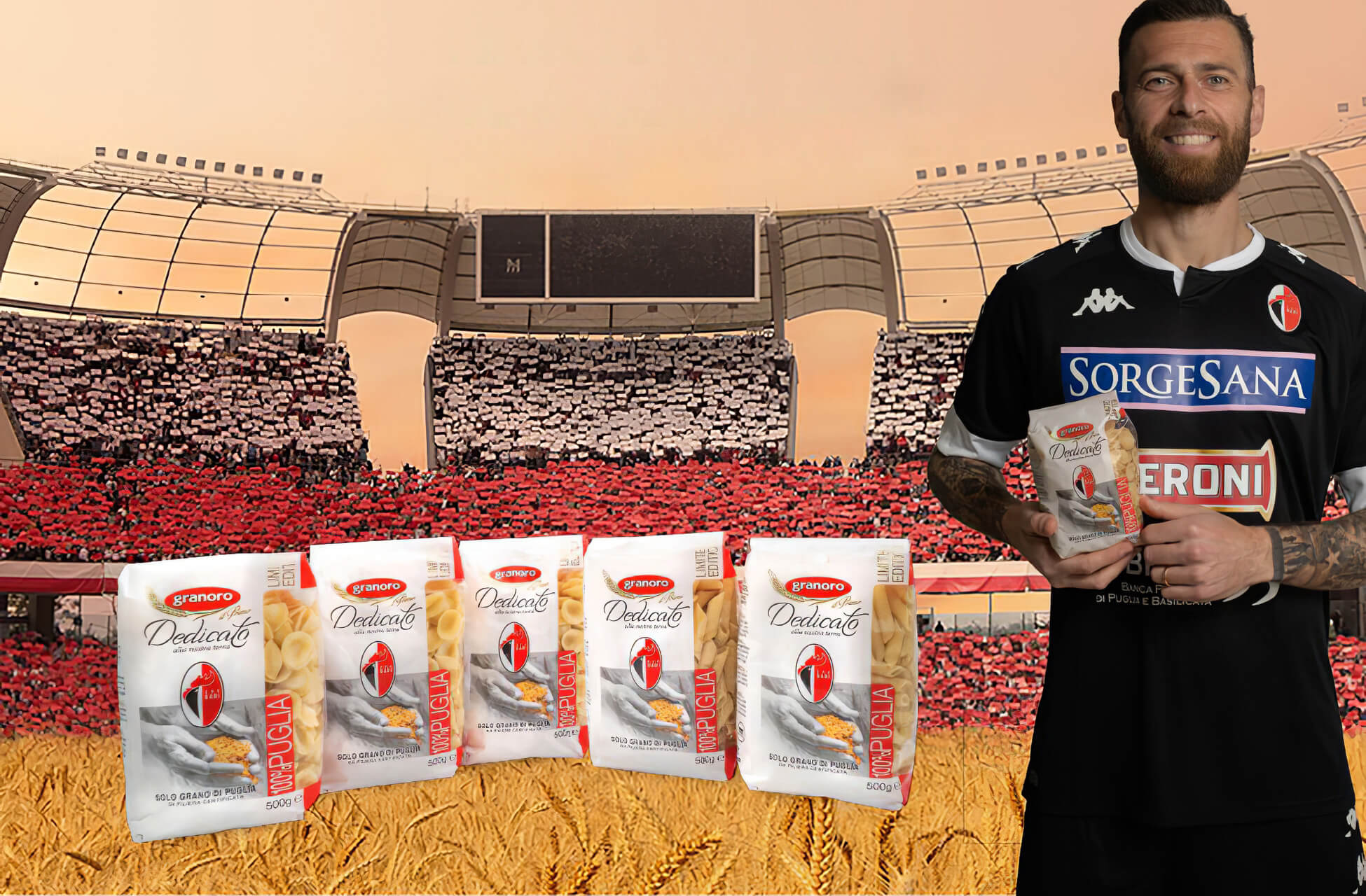 """Granoro presenta la """"Pasta del Bari"""": un pack dedicato alla SSC Bari Calcio"""
