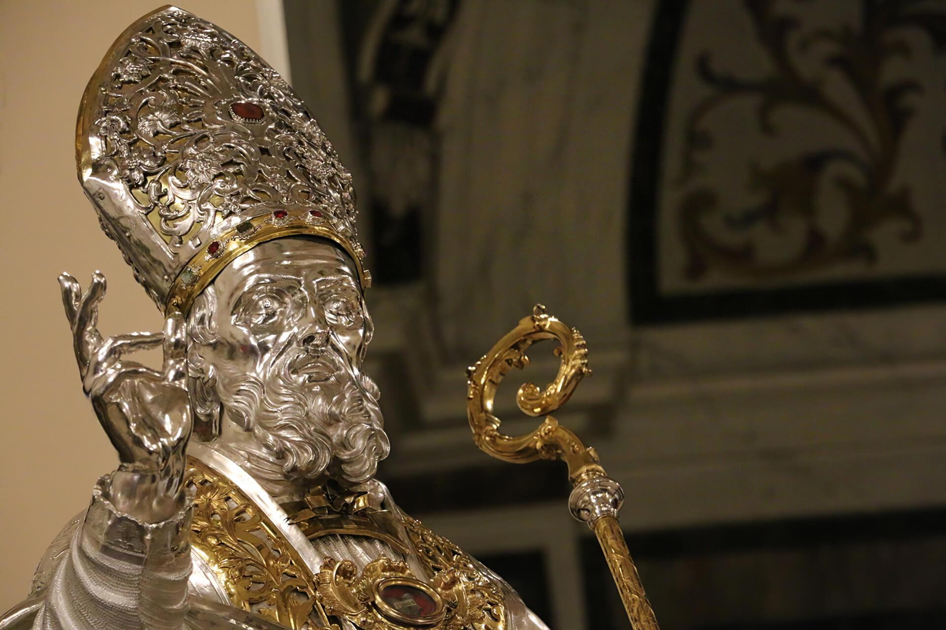 Busto argenteo di San Cataldo